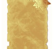 Christmas card with star on parchment by Cheryl Hall