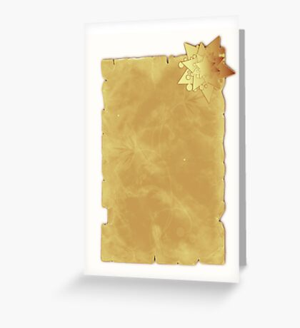 Christmas card with star on parchment Greeting Card
