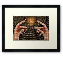 ☝ ☞ HANDS OF DISTINCTION PLZ VIEW LG 4 FULL EFFECT ☝ ☞ Framed Print