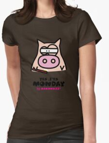 It's Monday... Kino's Moody Face Womens Fitted T-Shirt