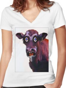 BUTCHER ?! Women's Fitted V-Neck T-Shirt