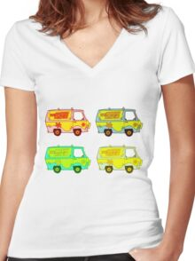 The Mystery Machine 2 Women's Fitted V-Neck T-Shirt