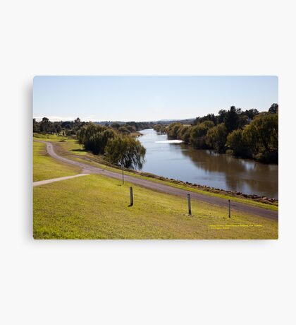 Hunter River looking Up-river from Maitland, NSW Canvas Print
