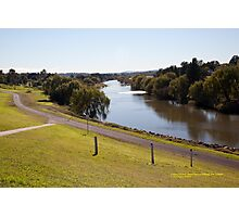 Hunter River looking Up-river from Maitland, NSW Photographic Print