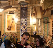 Iranian Traditional Teahouse, Tehran, Iran by Jane McDougall