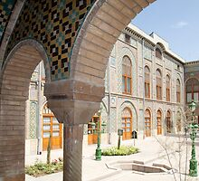 Palace Buildings, Pretty Mosaic Tiled Arch, Tehran, Iran by Jane McDougall