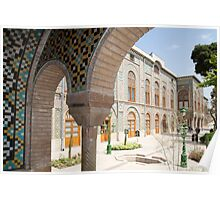 Palace Buildings, Pretty Mosaic Tiled Arch, Tehran, Iran Poster