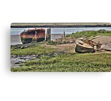 Wrecks on the Medway  Canvas Print