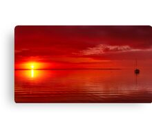 """The Sunrise And The Sailboat"" Canvas Print"