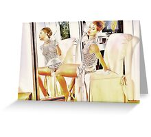Elegant Dame Greeting Card