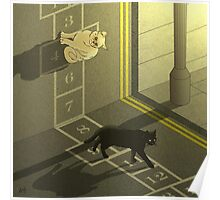 Cat Hopscotch  Poster