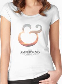 Ampersand Company Logo - Sunset Women's Fitted Scoop T-Shirt