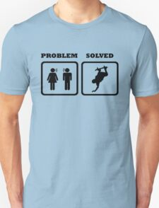 PROBLEM SOLVED WIFE SHOUTING AT SKATEBOARDER T-Shirt