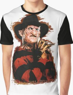 Freddy Krueger Potrait Graphic T-Shirt