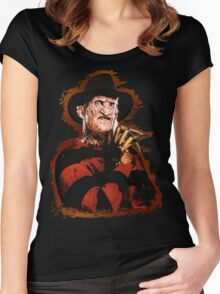 Freddy Krueger Potrait Women's Fitted Scoop T-Shirt