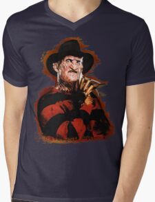 Freddy Krueger Potrait Mens V-Neck T-Shirt
