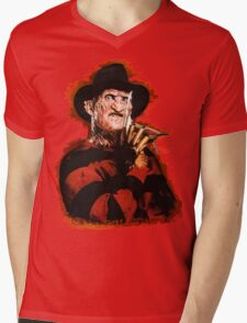 Freddy Krueger Potrait Mens V-Neck T-Shirt