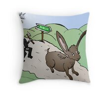 G8 Hunt the Hare on the Rocky Road Throw Pillow