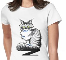 Maine Coon Tabby  Womens Fitted T-Shirt