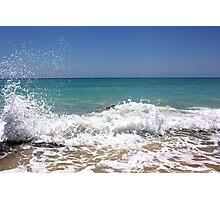 Waves crashing on the rocks Photographic Print