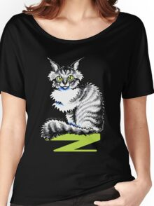 Maine Coon Tabby | Black Women's Relaxed Fit T-Shirt