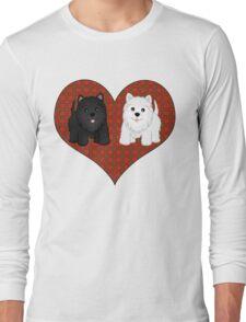 Scottie Dogs in a Tartan Heart Long Sleeve T-Shirt