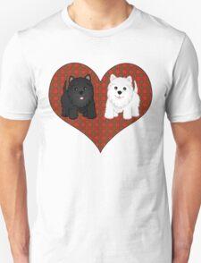 Scottie Dogs in a Tartan Heart T-Shirt