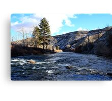 The Truckee River,Reno Nevada USA Canvas Print