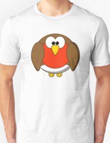 Cute Christmas Robin Redbreast T-Shirt