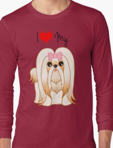Cute Little Shih Tzu Puppy Dog Long Sleeve T-Shirt