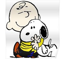 Lovely Snoopy Hug Poster