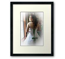 Green Ribbon Framed Print