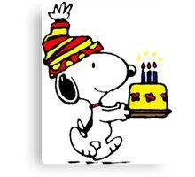 Happy Birthday Snoopy Canvas Print