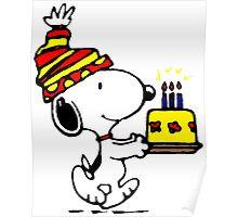 Happy Birthday Snoopy Poster