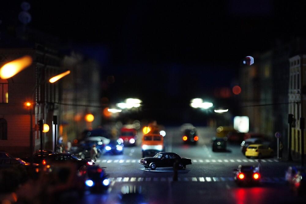 Traffic at Night  by mrivserg