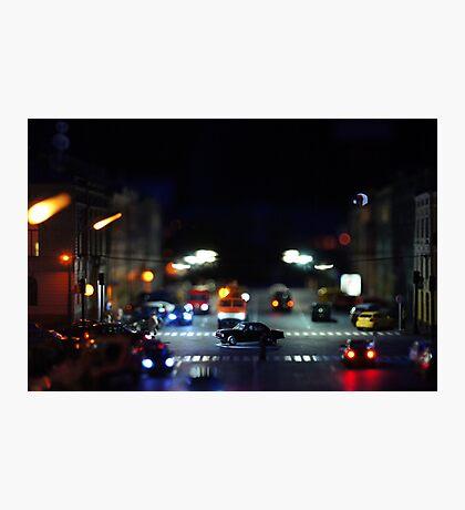 Traffic at Night  Photographic Print