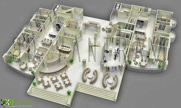 3d plano de planta 5 js by Ruturaj Desai