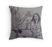 photographer and model Throw Pillow
