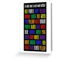 What's My Color Greeting Card