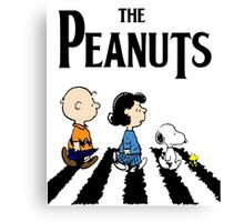 Peanuts Beatles Canvas Print