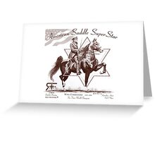 RF American Saddle Super Star Wing Commander drawing Greeting Card