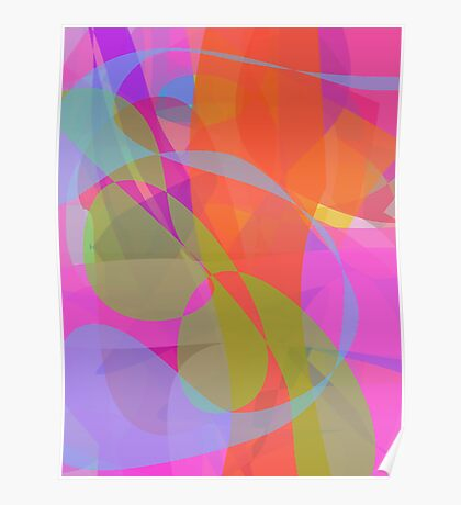 Original Abstract Vertical 2 Poster