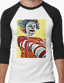 Self medicating Ronald McDonald  Men's Baseball ¾ T-Shirt