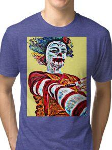 Self medicating Ronald McDonald  Tri-blend T-Shirt