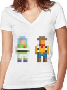 Retro Toy Story Women's Fitted V-Neck T-Shirt