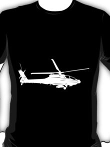 Large Detailed Apache AH-64 Helicopter White v1 T-Shirt