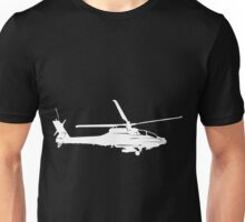 Large Detailed Apache AH-64 Helicopter White v1 Unisex T-Shirt