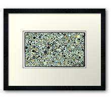 Dots,dots,dots retro style Framed Print