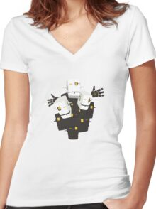 Robot Party Women's Fitted V-Neck T-Shirt