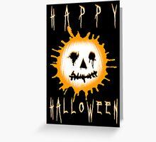 happy halloween jack-o-lantern Greeting Card